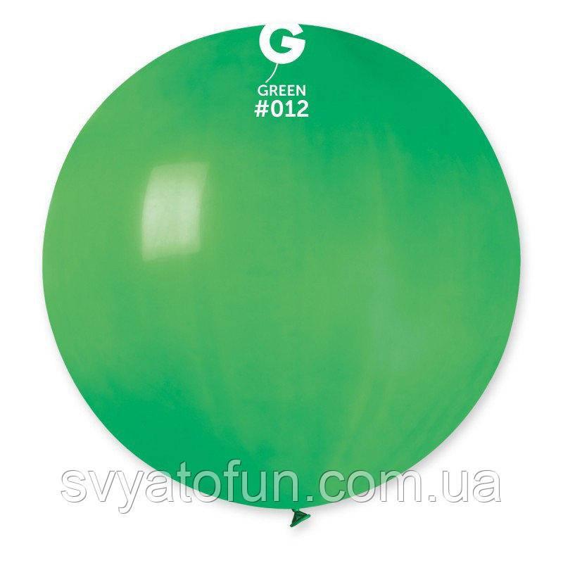 """Латексный воздушный шарик 31"""" пастель 12 зеленый 1шт Gemar"""