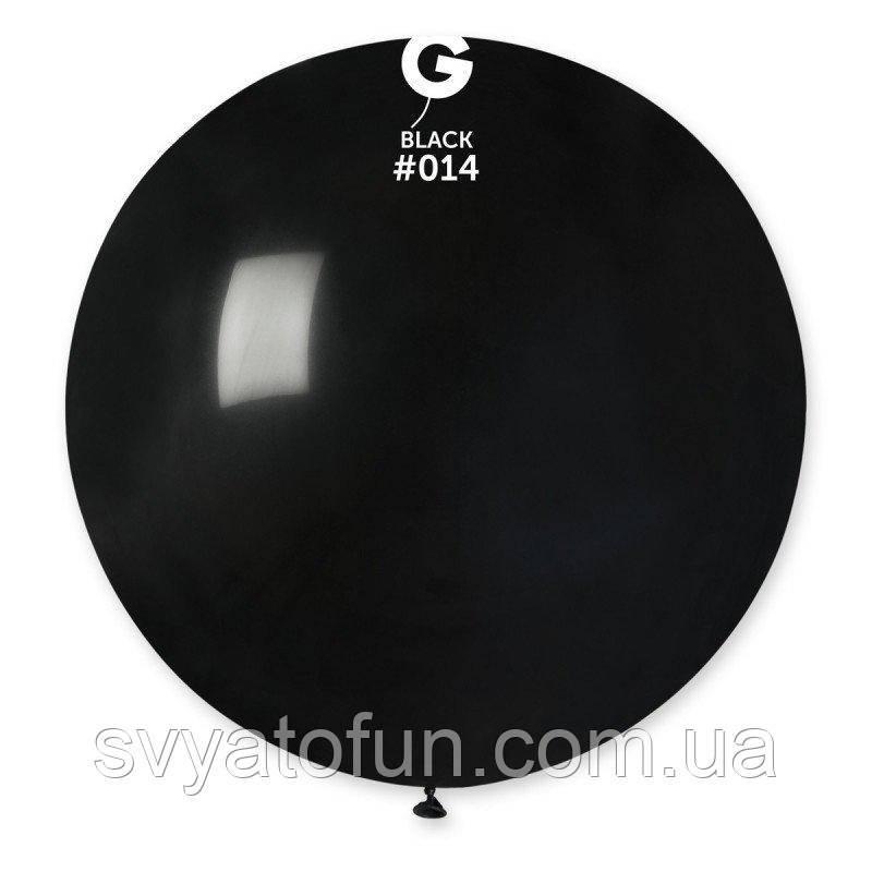"""Латексный воздушный шарик 31"""" пастель 14 черный 1шт Gemar"""