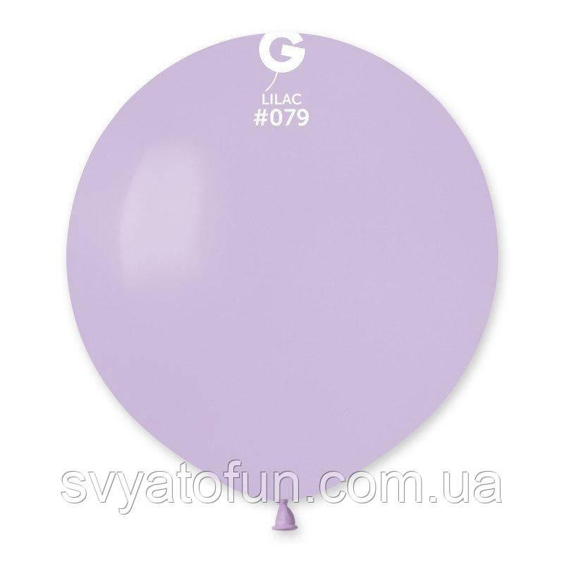 """Латексный воздушный шарик 19"""" пастель 79 сиреневый 1шт Gemar"""