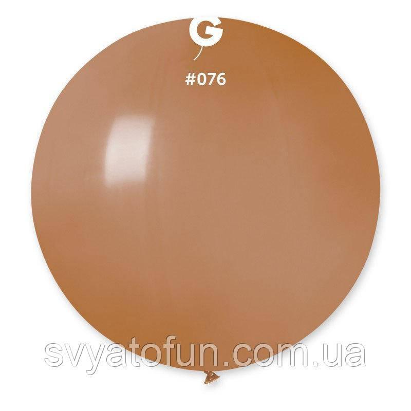 """Латексный воздушный шарик 31"""" пастель 76 мокко 1шт Gemar"""