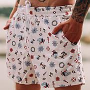 Мужские пляжные шорты с принтом Asos Lifebuoys