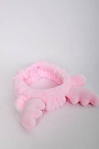 Повязки на голову - тюрбаны FAMO Повязка на голову косметическая Тринни светло-розовая One size (Х185-3)