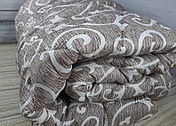 Одеяло двуспальное 180х210см/Одеяло на овчине/Одеяло Лери&Макс/Ковдра вівняна/Завиток,дощик