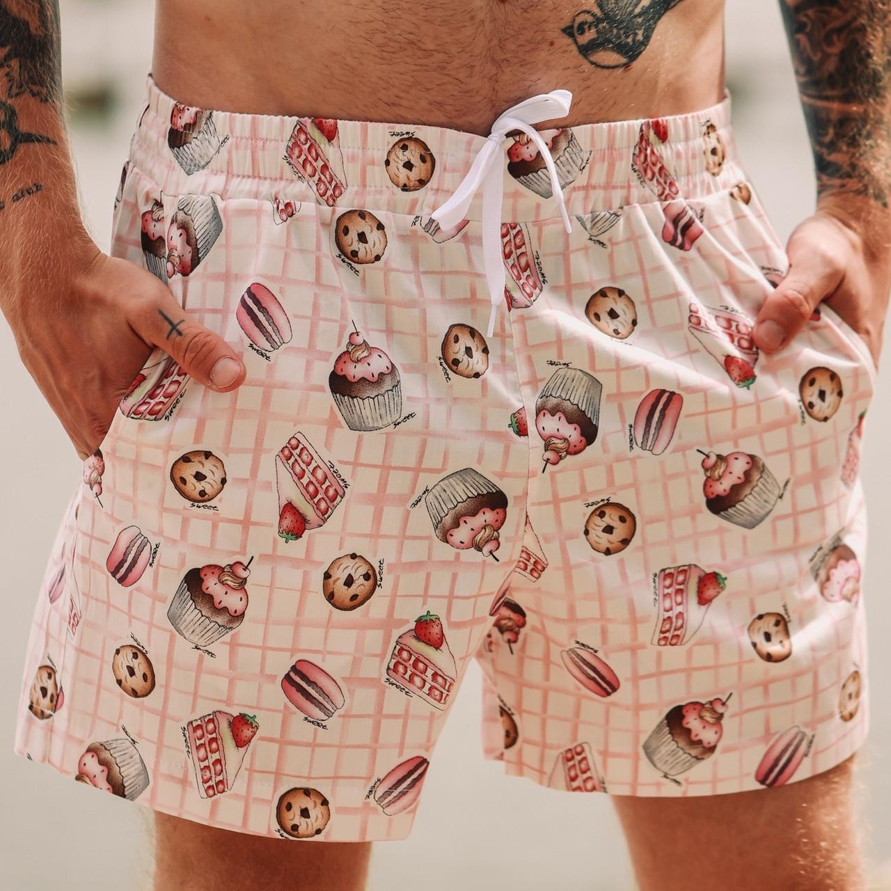 Мужские пляжные шорты с принтом Asos Muffins