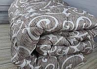 Одеяло двуспальное Евро 200х215см/Одеяло на овчине/Одеяло Лери&Макс/Ковдра вівняна/Завиток,дощик