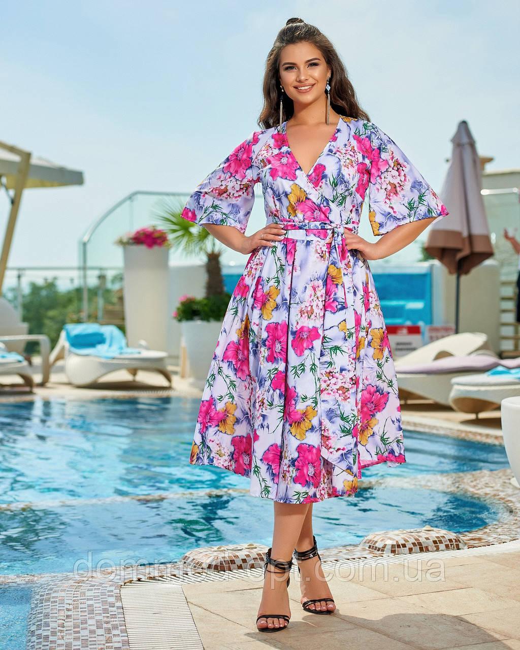 Женское легкое летнее платье №377 (р.46-60) в расцветках
