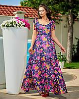 Жіноче легке літнє плаття №272 (р. 50-56)