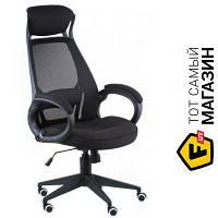 Офисное кресло руководителя с высокой спинкой сетка Special4you Briz black fabric (E5005) черный
