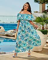 Жіноче легке літнє плаття №257 (р. 42-64), фото 1
