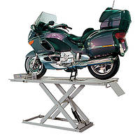 Подъемник ножничный для мотоциклов с пневмо-гидравлическим насосом, грузоподъемностью  600 кг