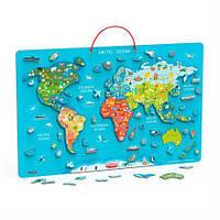 Магнітний Пазл Viga Toys Карта світу з маркерною дошкою (44508)