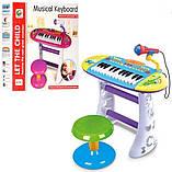Дитяче піаніно для дівчинки зі стільчиком, фото 3