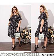 """Платье женское полубатальное мод: 4099 (48-50, 52-54, 56-58) """"ALISA"""" недорого от прямого поставщика, фото 1"""