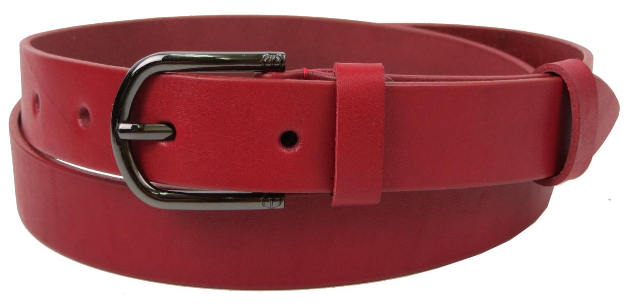 Женский кожаный ремень, пояс Skipper, красный 3 см