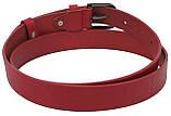 Женский кожаный ремень, пояс Skipper, красный 3 см, фото 5