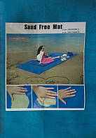 Туристический коврик Sand-Free Mat пляжная подстилка анти-песок 200х150см Blue (ТК-1-Р)