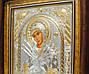 Икона  серебряная Божией Матери Семистрельная 30,5х28,5 см прямоугольной формы под стеклом, фото 4