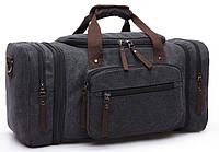 Дорожная сумка текстильная Vintage 20080 черная, фото 1