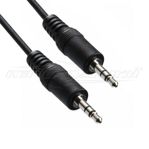 Аудио кабель AUX 3.5 mm jack в экране (эконом плюс качество), 15 м