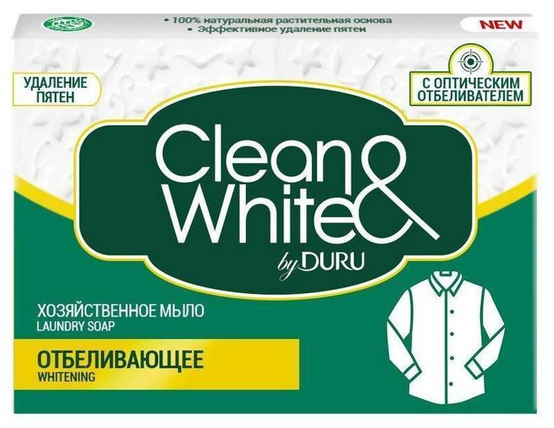 """Хозяйственное мыло Duru Clean&White """"Отбеливающее"""" (4*125г.)"""