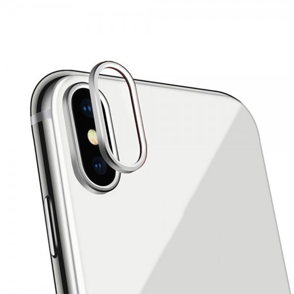 Protective Ring for Camera Apple iPhone X (silver)