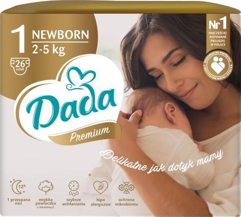 Подгузники Dada Extra Care 1 NEWBORN – 23 шт. / 2-5 кг