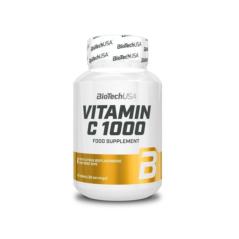 Витамины и минералы BioTech Vitamin C 1000, 30 таблеток