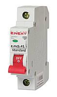 Автоматичний вимикач модульний 1P 01А х-ка C 4,5кА, E.NEXT e.mcb.stand.45.1.c1 (s002001)