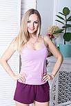 Хлопковая женская пижама П1102 Розовый+сливовый XS (40-42), фото 2
