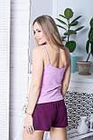 Хлопковая женская пижама П1102 Розовый+сливовый XS (40-42), фото 3