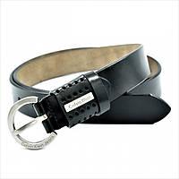 Ремень женский кожаный Ck Черный, фото 1