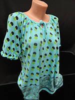 Молодежные футболки-туники в горошек . , фото 1