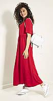 Платье Samnari-Т-44/1 белорусский трикотаж, красный, 48