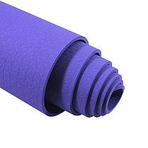 Коврик для фитнеса и йоги TPE Dobetters DBT-YG6 Purple каримат 1830*610*60 мм, фото 2