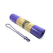 Коврик для фитнеса и йоги TPE Dobetters DBT-YG6 Purple каримат 1830*610*60 мм, фото 3