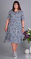 Платье Novella Sharm-3528 белорусский трикотаж, сине-белый, 60