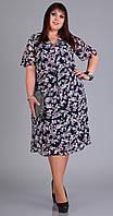 Платье Novella Sharm-3529 белорусский трикотаж, темно-синий+сирень, 62