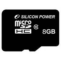 Карта памяти Silicon Power 8Gb microSDHC class 10 (SP008GBSTH010V10)