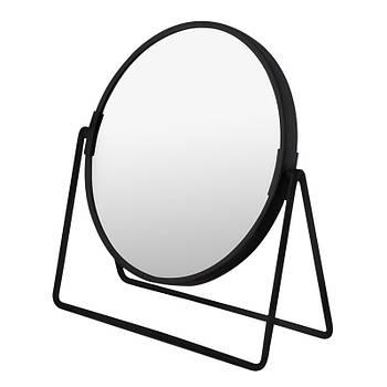 Зеркало косметическое круглое черное на подставке AWD02091468