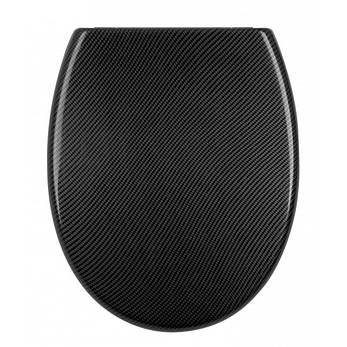 Крышка для унитаза черная Carbon AWD02181451