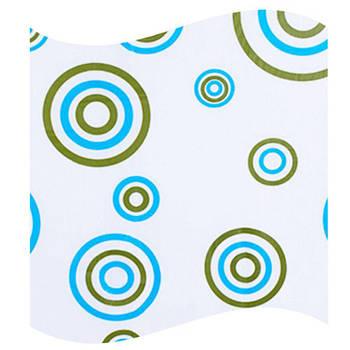 Шторка для ванной цветные круги AWD02101108