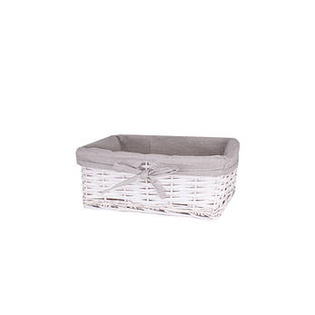 Корзина для белая плетеная белая AWD02241596