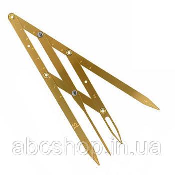 Циркуль Леонардо для бровей золотистый