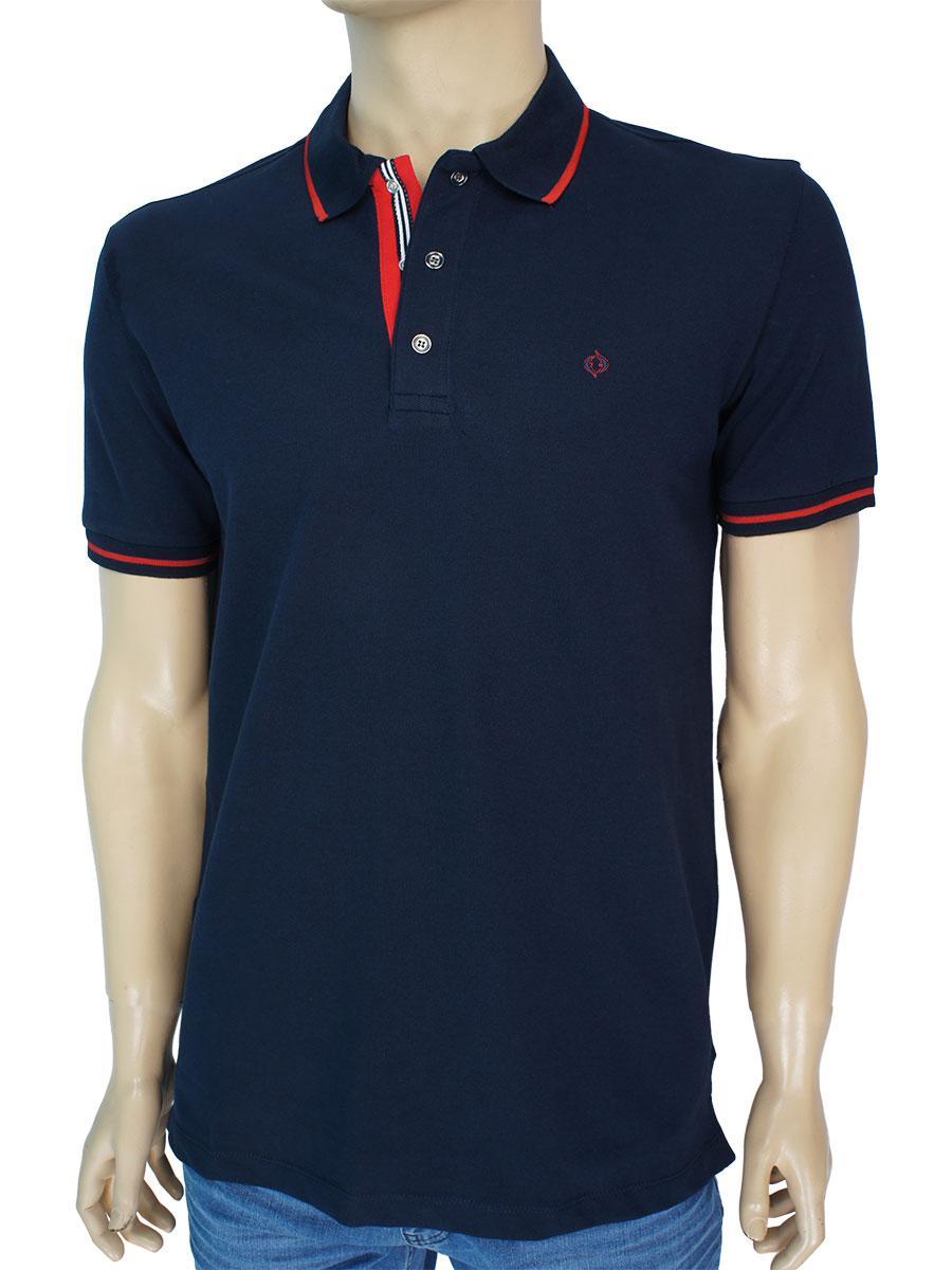 Стильна чоловіча теніска Fabiani 22201 Dark Blue темно-синього кольору