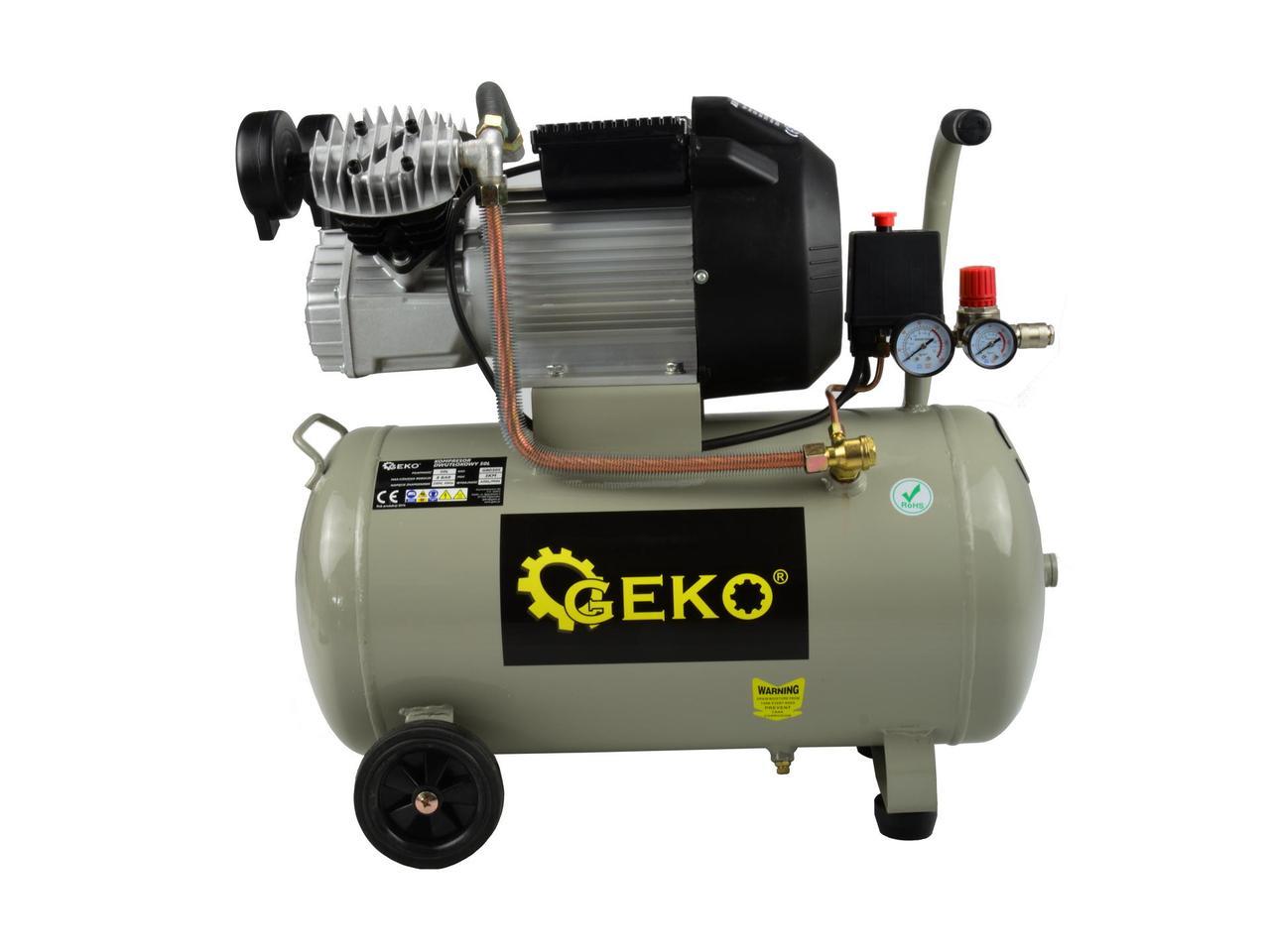 Двухпоршневой масляный компрессор Geko G80305
