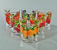"""Набор стаканов 250 мл """"Классик""""  фрукты в ассортименте 6 шт."""
