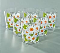 """Набор стаканов 250 мл """"Классик"""" цветы 6 шт."""