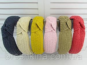 Ободок Чалма  солома основа пластик/текстиль 6 шт/уп.