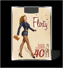 Колготки Flirty женские элегантные без шортиков nero 40 den размер 2