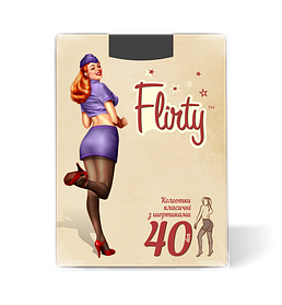 Колготки Flirty женские с заниженной талией nero 40 den размер 2